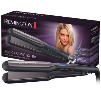 Remington Fer à Lisser, Lisseur Plaques Flottantes XL Céramique Avancée, Température Modulable, Lissage Facile, Chauffe Rapide Accessoire Inclus