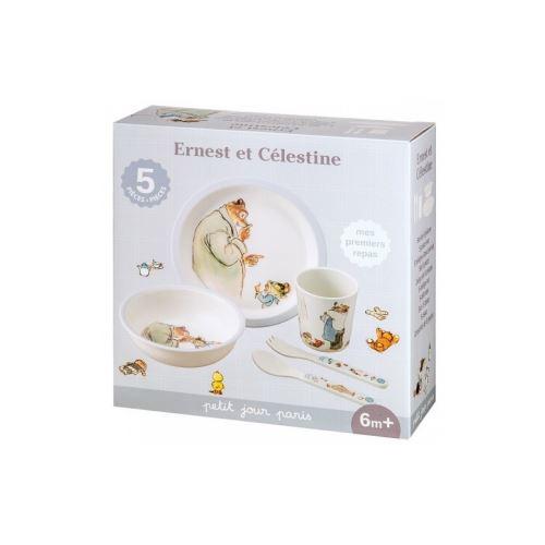 Coffret Cadeau 5 pieces Ernest et Celestine Bleu