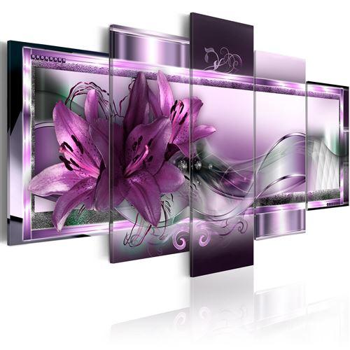 Tableau - Purple Lilies - Décoration, image, art - Abstraction -