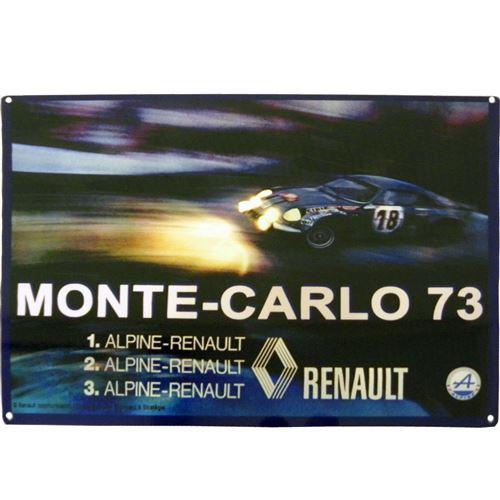 Grande Plaque métal A 110 Renault