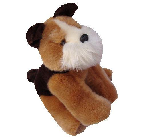 Peluche chien brun 24 cm - enfant - animal