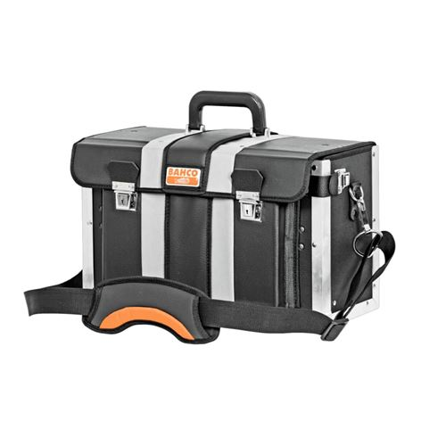 BAHCO Caisse à outils rigide ouverture à l'avant Cuir Noir 4750-FOLTC-1