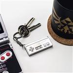 Porte-clés en métal 3D pour contrôleur Nintendo NES