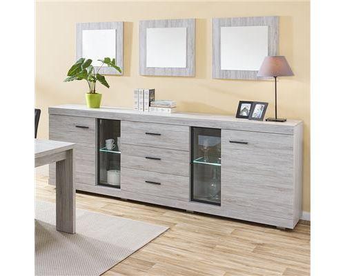 Buffet contemporain couleur chêne gris LADY