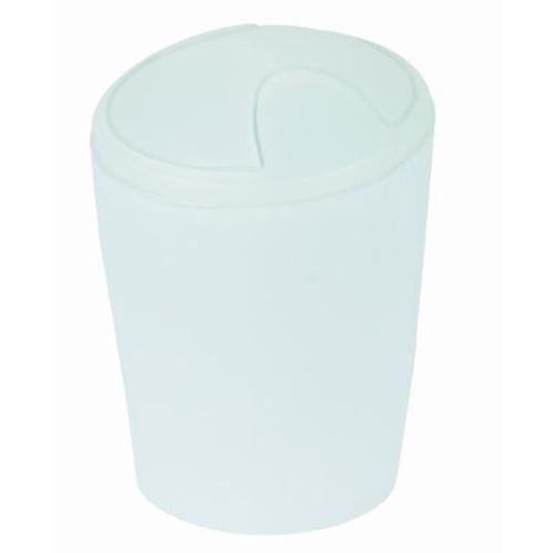 Move poubelle salle de bain - 21x15x15 cm - blanc glaçé b004hp0hj8