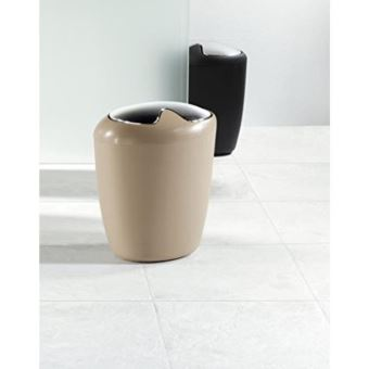 Spirella Poubelle Salle De Bain Etna   30x25x18cm   Noir 10.10548   Achat U0026  Prix | Fnac