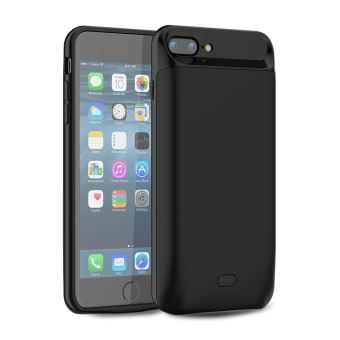 Coque Batterie pour iPhone 7 Plus iPhone 8 Plus 7200mAh Coque Chargeur de Protection Batterie Externe Magnetique Portable Rechargeable Noir