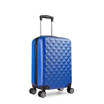 valise cabine 55 cm abs bagage cabine rigide 4 roues avion ryanair 4 couleurs 40l blue. Black Bedroom Furniture Sets. Home Design Ideas