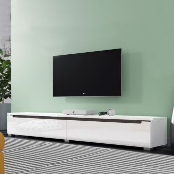 Meuble Tv Suspendu Blanc 180 Cm