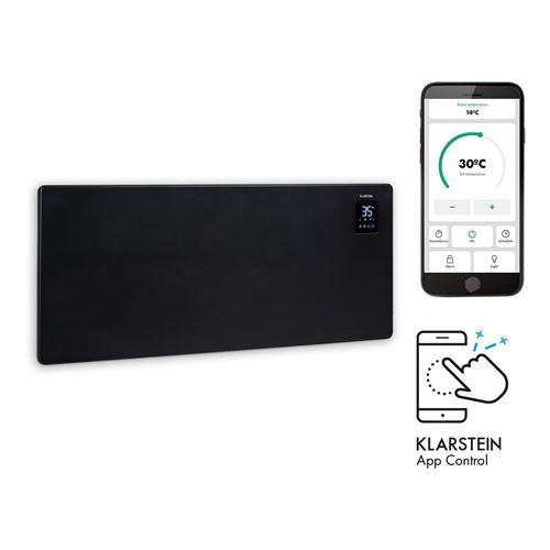Klarstein Bansin Smart 2500 - Radiateur à convection connecté 2500W , pour 50 m² , thermostat, contrôle par application - Noir