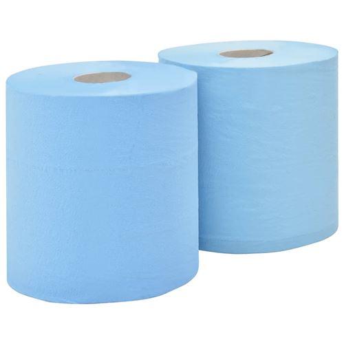 vidaXL Essuie-tout en papier 3 couches 2 rouleaux 38 cm