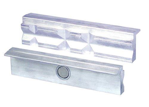HEUER 109120 Étau Pâtisserie/Protection Pâtisserie | rechtwinkelig, parallèle, spécial intégré Aimants, convient pour étau 120 mm – Matériau : Aluminium