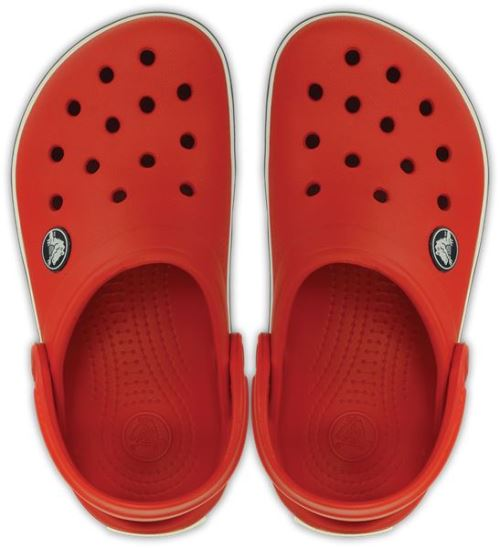 Crocs crocband kids sabots <strong>chaussures</strong> sandales en flame rouge blanc noir 10998 884