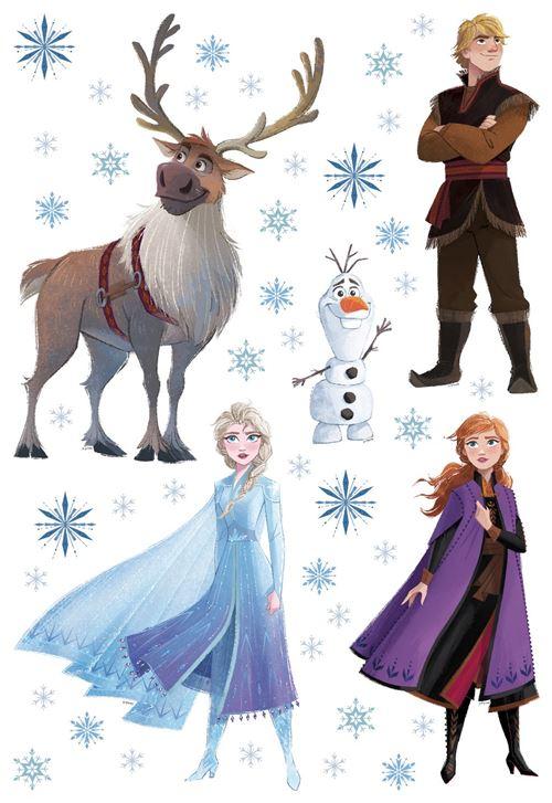 Stickers repositionnable Disney - La Reine des Neiges 2 - modèle dessin - 42.5CM x 65 CM