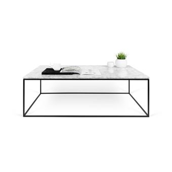 Table Basse Metal Blanc.Paris Prix Temahome Table Basse Gleam 120cm Marbre Blanc Metal Noir