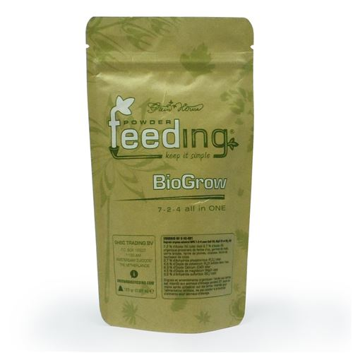 Engrais biogrow powder feeding 125gr - green house