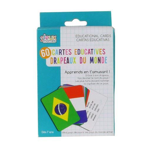 Jeux 2 Momes Cartes Educatives Pays Et Drapeaux (2327)