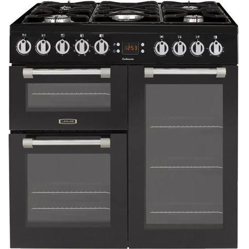 Leisure Cookmaster CK90F320KG - Cuisinière (triple four) - pose libre - largeur : 90 cm - profondeur : 60 cm - hauteur : 90 cm - classe A - noir