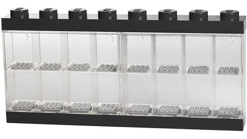 LEGO vitrine 16 mini figurines 38 x 18 cm en polypropylène noir