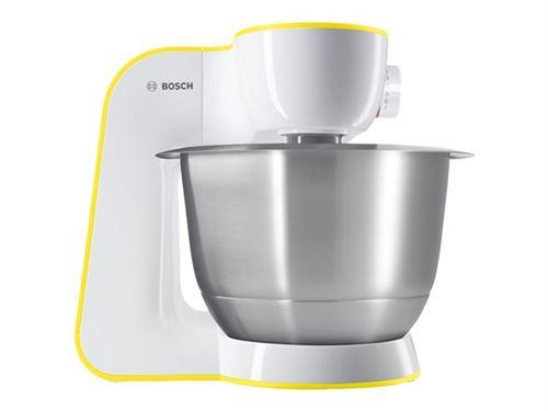 Bosch StartLine MUM54Y00 - Robot multi-fonctions - 3.9 tasse - 900 Watt - blanc / jaune intensif
