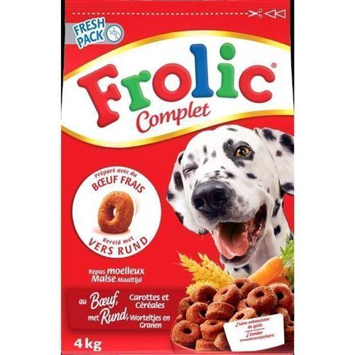 Frolic Croquettes Completes - Au Boeuf Frais, Carottes Et Cereales - Pour Chien - 1,5kg