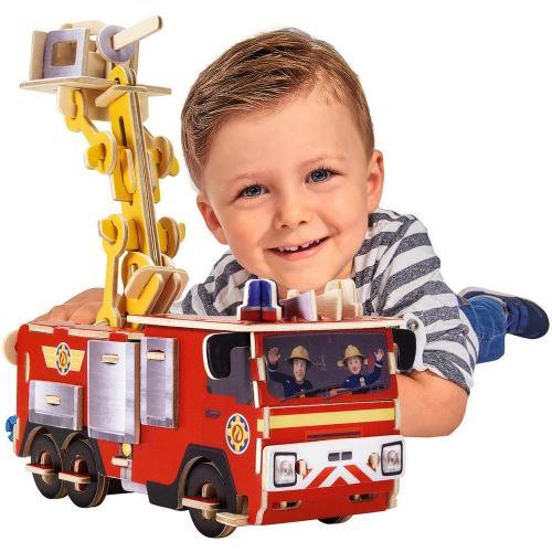 Camion Sam le Pompier Puzzle 3D en bois jouet enfant