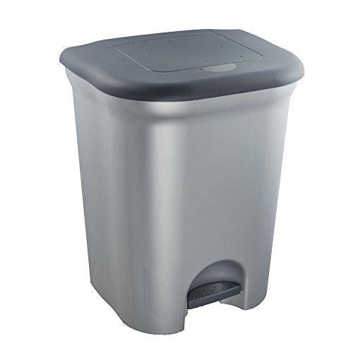 Keeeper 1153616000000 torge poubelle polypropylène argent 37,5 x 29,5 x 46 cm