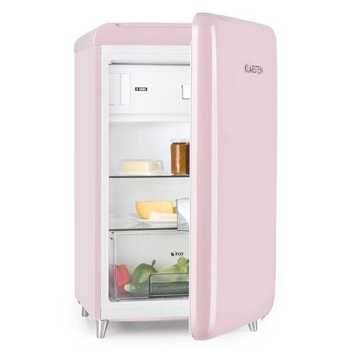 Klarstein Alleinversorger Combiné réfrigérateur congélateur 90 litres - 2 zones - Classe énergétique F - noir