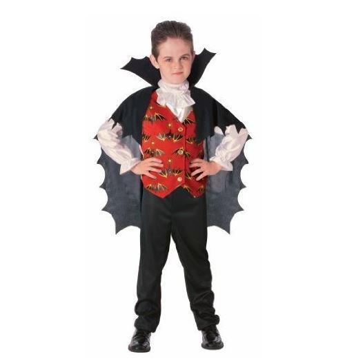 Déguisement dracula enfant 5-7 ans (haut et cape)