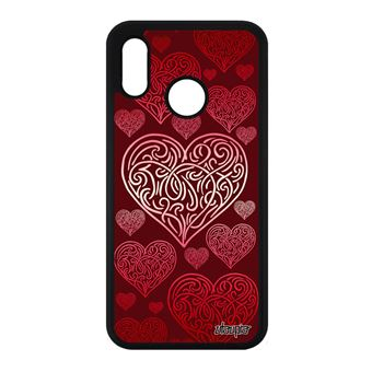 Coque P20 Lite Silicone Cœur Rigide Dessin Telephone Romantique Amour En Huawei