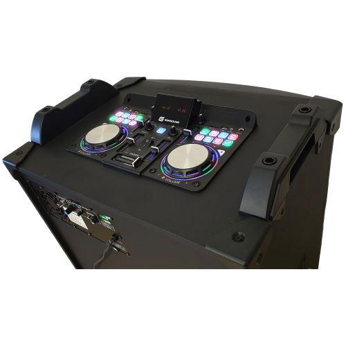 Enceinte active Contr/ôleur DJ Gemsound GS-18 LED CASQUE USB//SD//BT//RADIO FM Micro sans fil Boomer 18-1800W