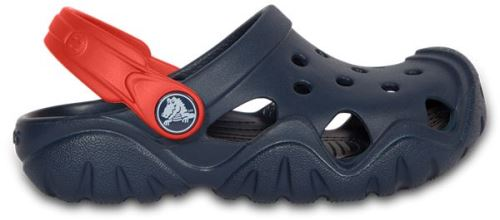 Crocs enfants swiftwater sabots <strong>chaussures</strong> sandales en bleu marine flame 202607 4ba