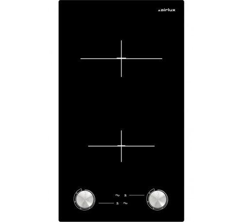 Airlux ATH320M - Vitrocéramique - 2 plaques de cuisson - Niche - largeur : 27 cm - profondeur : 49 cm - noir - sans cadre
