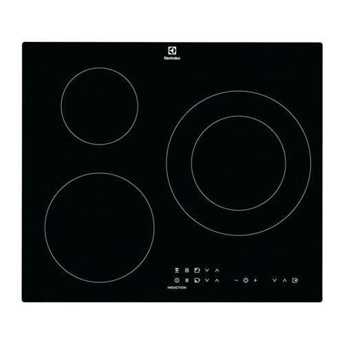 Electrolux CIT60331CK - Table de cuisson à induction - 3 plaques de cuisson - Niche - largeur : 56 cm - profondeur : 49 cm - noir - avec bord droit