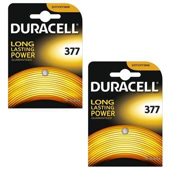 2 X Duracell 377 15v Silver Oxide Watch Battery Batteries Sr626sw Ag4 626 D377