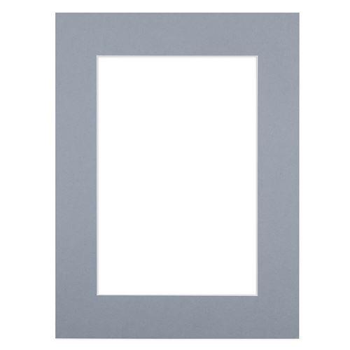 Passe-partout gris 13x18 cm ouverture 9x13 cm, Carton - marque française