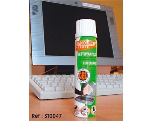 Mousse nettoyante antistatique pour écran LCD SANOTECH