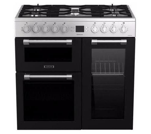Leisure Cookmaster CK90F320XG - Cuisinière (triple four) - pose libre - largeur : 90 cm - profondeur : 60 cm - hauteur : 90 cm - classe A - acier inoxydable