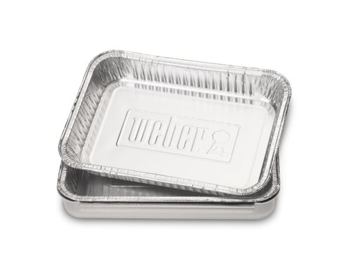 10 Petites barquettes aluminium Weber