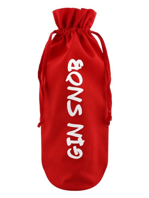 Sac de bouteille Gin Snob rouge