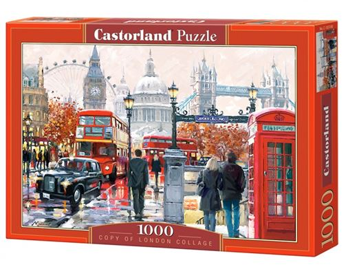 Puzzle 1000 Pièces : London Collage, Castorland