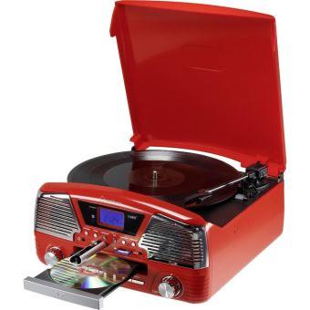 Tourne Disque R 233 Tro Renkforce Mt 35 Rouge Platine Vinyle