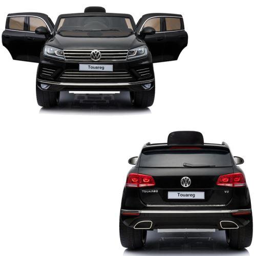 Bébé Suv Volkswagen Voiture Petite Pack Volts 4x4 Électrique Bluetooth Touareg Noir Luxe 12 Enfant XuOiZPk