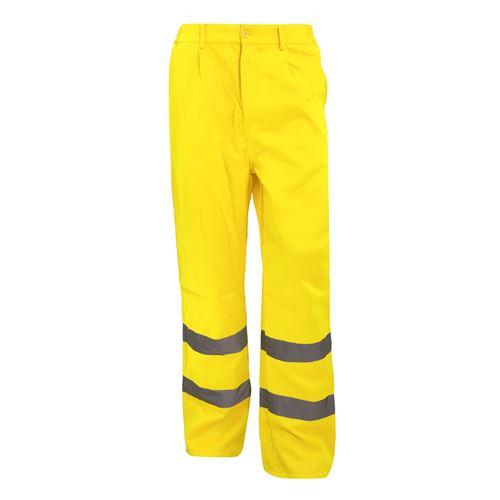 Yoko - Pantalon de travail haute visibilité, coupe régulière - Homme (Lot de 2) (46 FR) (Jaune) - UTBC4405