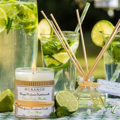 DURANCE Bougie Parfum Citron Vert Menthe