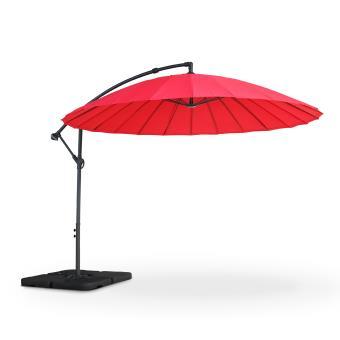 Plus adapté Parasol déporté Shanghai Ø288cm rond Rouge - Alice's Garden ST-85