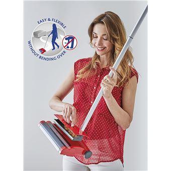 Vileda Quick & Clean Balai électrique rouge sans fils