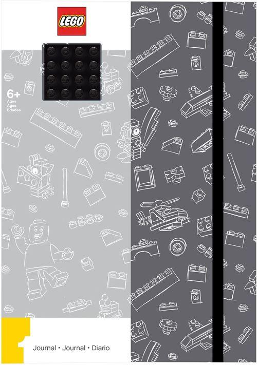 Lego - LG51841 - Loisir créatif - Papèterie - Journal avec Plaque Briques, Gris