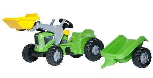 Rolly Toys Tracteur à pédales RollyKiddy Futura vert / noir