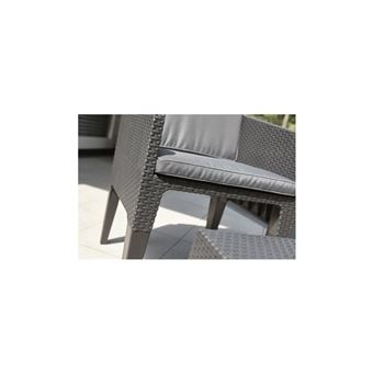 Keter Salon De Jardin Columbia 2 Places - Imitation Rotin Tresse ...